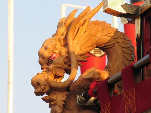 平成19年度新調 赤間幕飾り彫刻 阿吽の龍 阿形